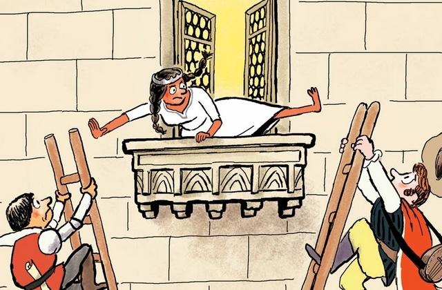 Cinq livres avec des princesses qui changent des demoiselles en détresse