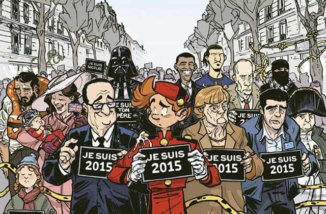 «Spirou» résume 2015 et rend hommage à «Charlie Hebdo» dans «Groom», un nouveau magazine
