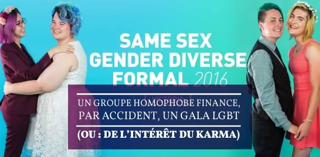 Un groupe homophobe finance, par accident, un gala LGBT (ou:de l'intérêt du karma)