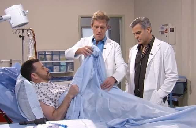 George Clooney et Hugh Laurie renfilent leurs blouses blanches pour Jimmy Kimmel