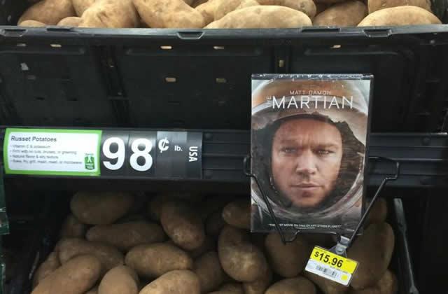 Les pommes de terre «Seul sur Mars», le meilleur partenariat de l'année
