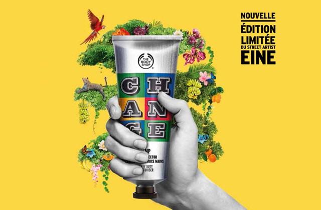 Le street artist EINE a réimaginé la crème pour les mains au chanvre de The Body Shop