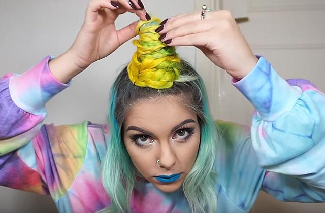 La Unicorn Braid, coiffure improbable inspirée des licornes