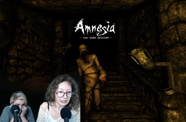 Amy & Mymy pètent un plomb sur « Amnesia», un jeu d'horreur