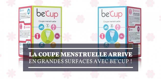 La coupe menstruelle arrive en grandes surfaces avec be'Cup!