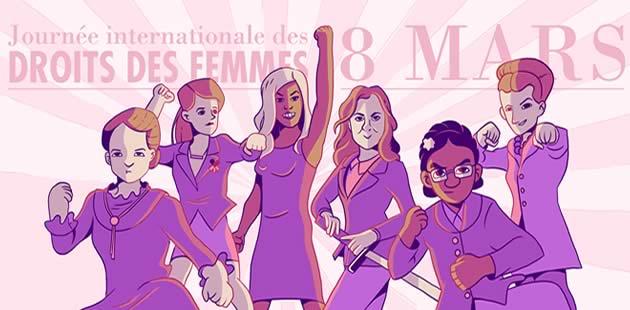 journée internationale des droits des femmes le 8 mars