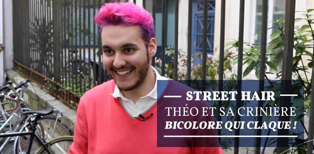 Street Hair — Théo et sa crinière bicolore qui claque!
