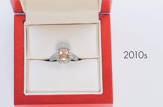Cent ans d'évolution de la bague de fiançailles résumés en vidéo