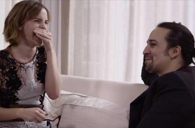 Emma Watson beatboxe avec Lin Manuel Miranda en rap freestyle sur l'égalité des genres