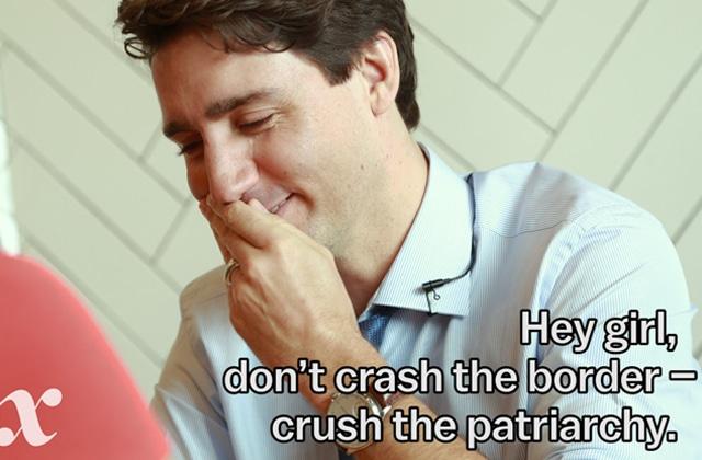 Justin Trudeau prouve une fois de plus son féminisme !