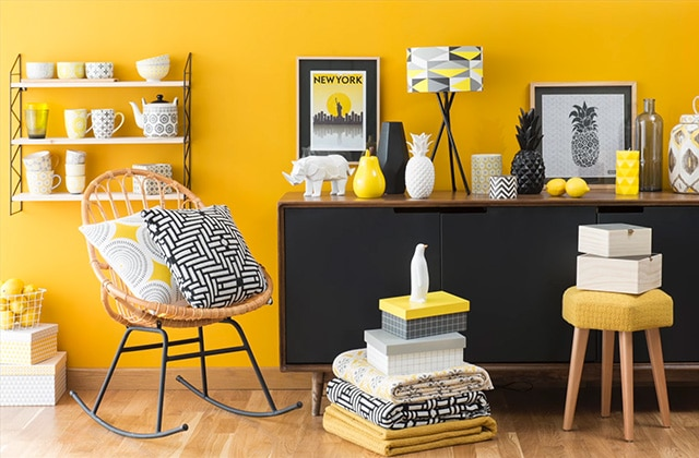 S lection d co pour un salon jaune citron - Diy deco salon ...