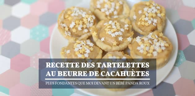 Recette des tartelettes au beurre de cacahuète, plus fondantes que moi devant un bébé panda roux