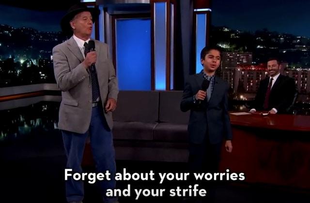 Bill Murray chante « Il en faut peu pour être heureux » chez Jimmy Kimmel