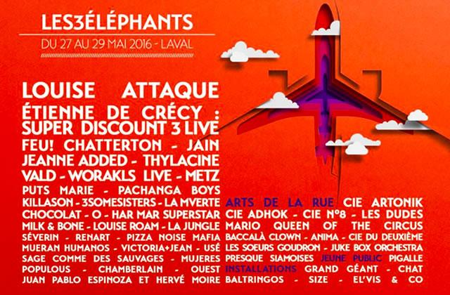 Le festival des 3 Éléphants vous fait gagner 3 packs & pass week-end!