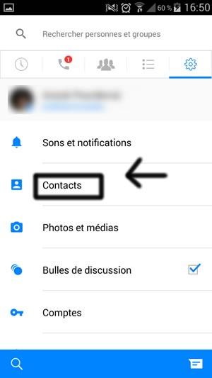 boite de reception cachee facebook