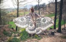 Les très jolis foulards en forme de papillons de Costurero Real sur Etsy