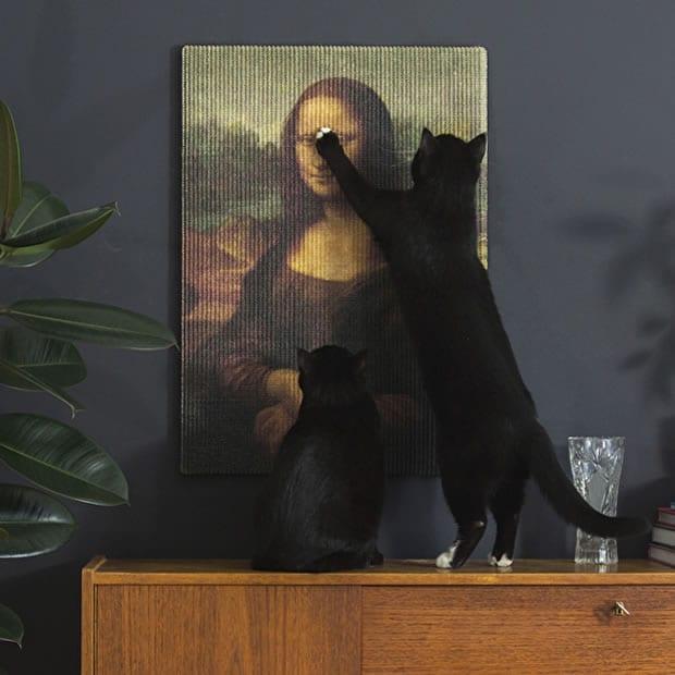 le griffoir pour chat joconde car l 39 art a se respecte. Black Bedroom Furniture Sets. Home Design Ideas