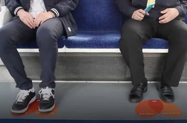 Le «manspreading» VS les stickers mignons d'un Sud-Coréen plein de ressources