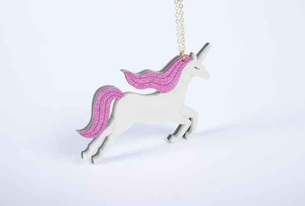 collier fantaisie licorne