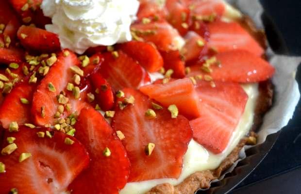 recette tarte aux fraises chantilly