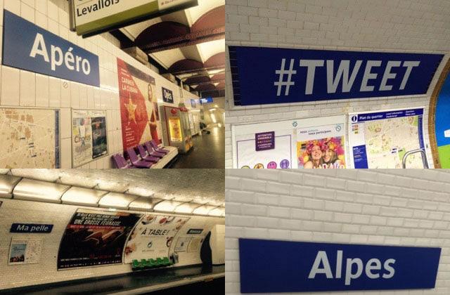 La RATP renomme 13 stations pour le 1er avril!