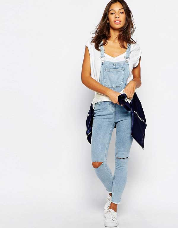 0a342837a373d Une salopette en jean de chez New Look Petite, disponible sur Asos