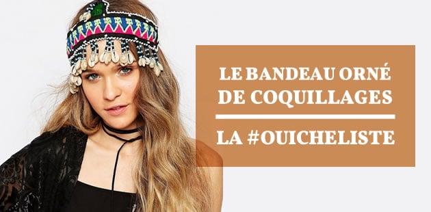 Le bandeau orné de coquillages – La #OuicheListe