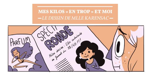 Mes kilos «en trop » et moi — Le dessin de Mlle Karensac