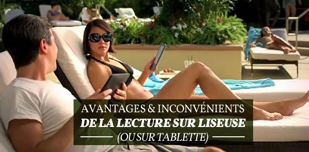 Avantages & inconvénients de la lecture sur liseuse (ou tablette)