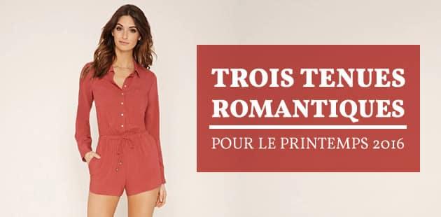 Trois tenues romantiques pour le printemps 2016