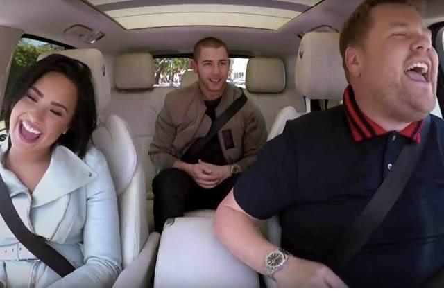 carpool-karaoke-demi-lovato-nick-jonas