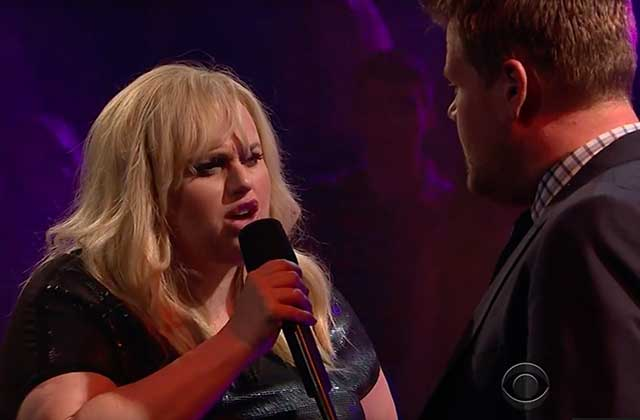 David Schwimmer (« Ross ») et Rebel Wilson se clashent avec James Corden dans « Drop The Mic »