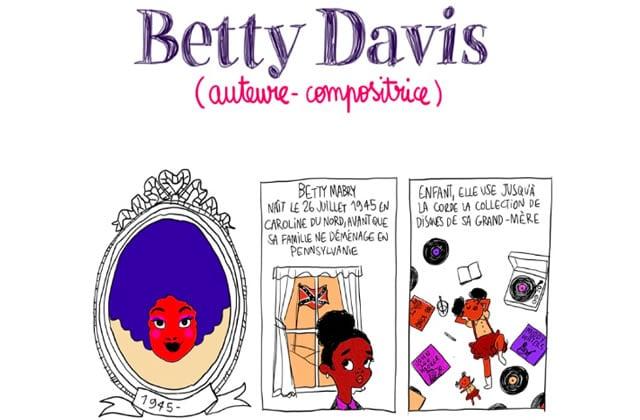 Betty Davis, «auteure et compositrice» — Les Culottées, par Pénélope Bagieu