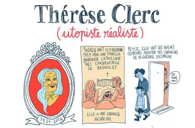 Thérèse Clerc, «utopiste réaliste»—Les Culottées, par Pénélope Bagieu