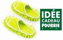 Les pantoufles-serpillières, pour laver ton parquet en moonwalk