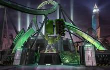 Le roller-coaster HULK secoue dans tous les sens au parc Universal Studios!