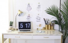 Sélection de DIY déco pour un bureau digne de Pinterest