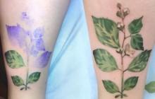 Les tatouages «à base de plantes» de Rita Zolotukhina