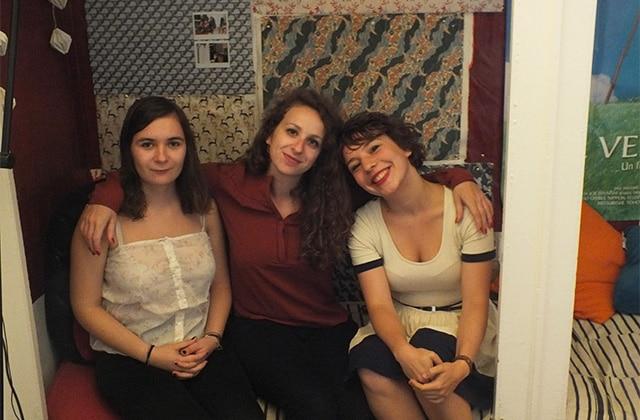 Dans l'appart' de Violette, Manon et Jeanne, étudiantes à Lille
