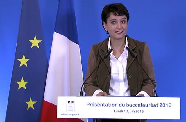 Quand Najat Vallaud-Belkacem tacle le marronnier du bac «qui baisse»
