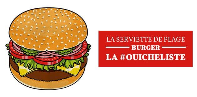 La serviette de plage burger — La #OuicheListe