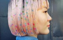 Les cheveux à pois, la tendance coloration éphémère du moment