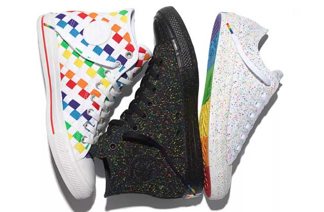 Les Converse multicolores de la « Pride Collection » édition 2016