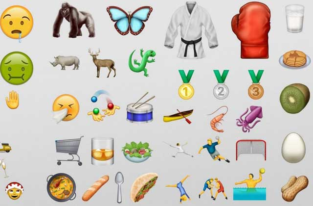 Soixante-douze nouveaux emojis dévoilés!