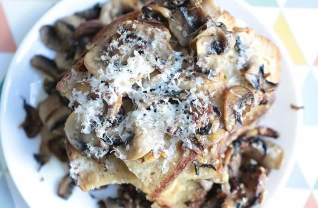 Le pain perdu aux champignons—La recette qui fait mouche