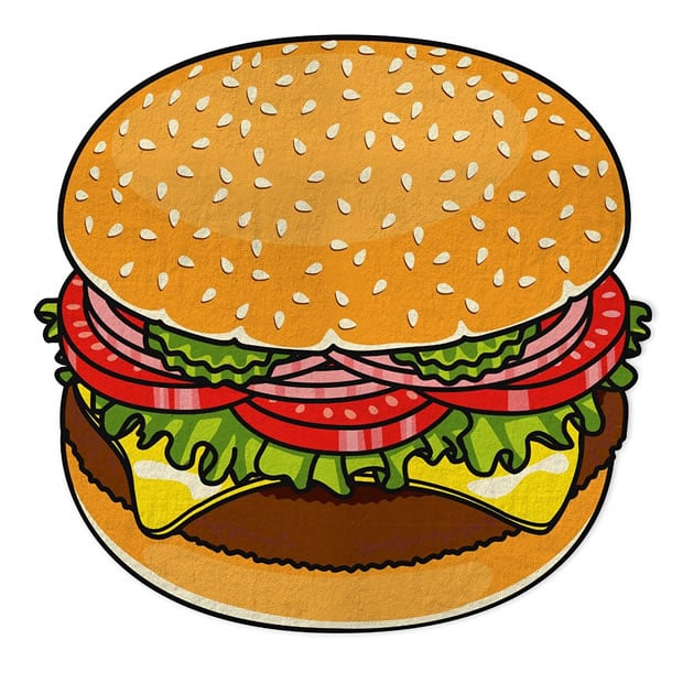 serviette-plage-burger-amazon