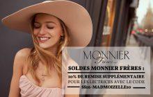 Soldes Monnier Frères, 10% de remise supplémentaire !