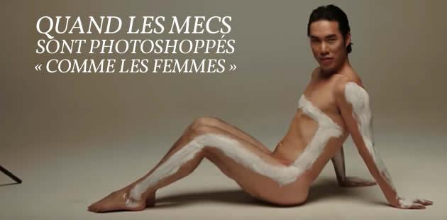 Des hommes photoshoppés comme des femmes dans une vidéo édifiante