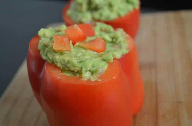Les poivrons rouges farcis au guacamole—Recette fraîche #ApéroWeek