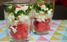 Verrines pastèque/feta/menthe—Recette fraîche validée par Pingu (ou presque) #ApéroWeek